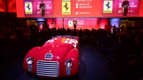 Throaty Engines Roar As Ferrari Shares Make Milan Debut
